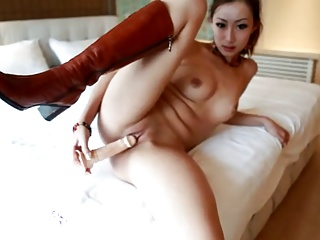 Dildo masturbation high-quality woman spread the legs