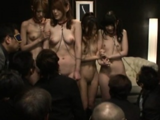 Young nippon babes naked plus get-at-able for the action
