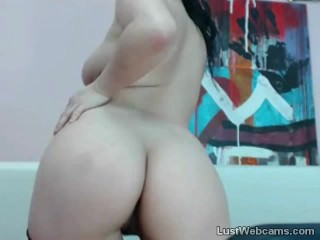 Busty Asian babe badinage on webcam