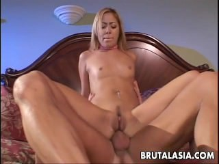 Blonde bitch getting fucked bottomless gulf in her assho