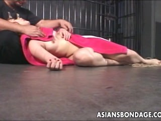 Asian bitch has a bdsm session and she loves