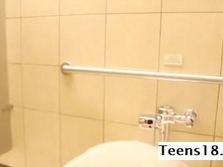 XXX Asian Teen Toys with reference to Public Restroom