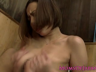 Busty japanese milf titfucking just about the bathtub
