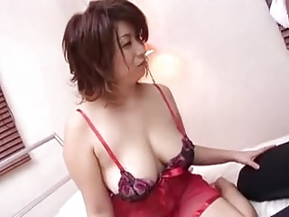 Japanese Busty Cougars Deferment For Young Lover