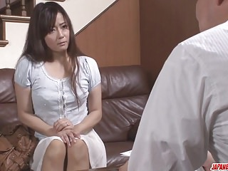 Japanese porn roughly an old mendicant for Mizuki Ogawa