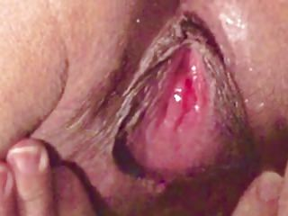 Asian milf masterbate pussy and ass close up orgasm