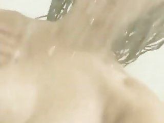 Super sexy tattooed asian naked in the shower
