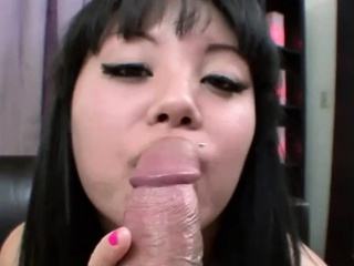 Asian Teen Gets a Beefy Load of Facial
