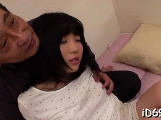 Sweet-looking oriental highly priced spreads legs and gets fingered