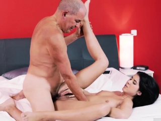 Superannuated guy fucks Older gentleman and his princess