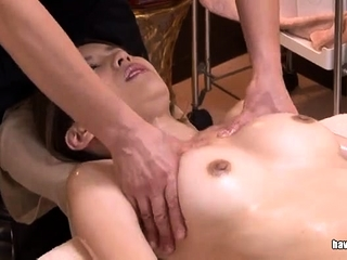 Japanese slut sucking on a prudish asian cock