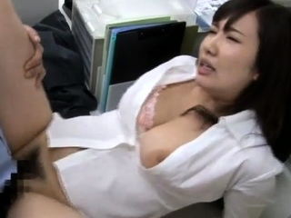 Naughty asian cutie opens hairy pussy be proper of hardcore hammering