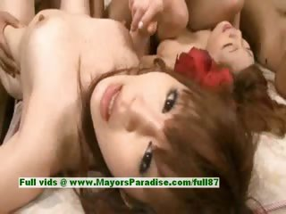 Rena Kuraki and teen Chinese sculpt friends have a hot crazy orgy
