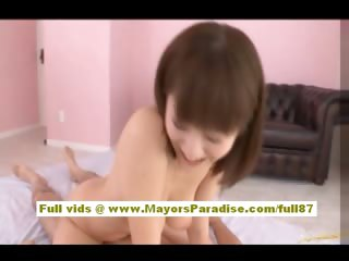 Yuma Asami Asian girl is fucked in missionary look for